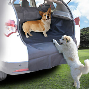 2 In 1 Waterproof Car Rear Back Seat Cover Pet Dog Boot Mat New Cargo Liner Tray
