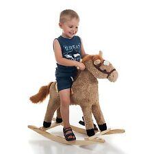HAPPY TRAILS Horse Plush Rocking Horse Wooden Rocker