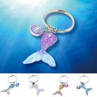 Mermaid Fish Scale Pendant Key Chain Keyring Jewelry Handbag Dangle Decoration
