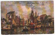 Künstlerkarte Hafen, von Heiligenhaus/Düsseldorf nach Hagen/W. vom 27.07.1912