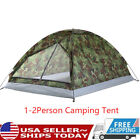 Single Layer Travel Waterproof Tent Folding Outdoor Camping Tent Camouflage C6F1