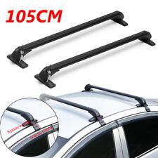 "41.3"" Car Roof Rack Aluminum Adjustable Cross Bar Luggage Carrier Window Frame"