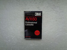 Vintage Audio Cassette 3M AVX 60 * Rare From Korea 1996 * Unsealed