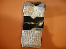 PowerSox by Gold Toe - 2 Pair Boot Socks - Large - Cotton Blend NWT Taupe 9-12.5
