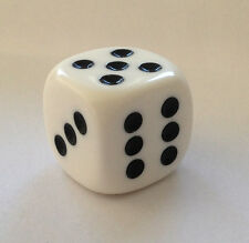 Würfel Cube Dice für Bastler Schmuck ca. 20 mm Kette Mode 2 cm Game Spiel weiss
