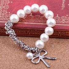 Women 's Jewelry Pearl Bow Stretch Beaded Bracelet Bracelet11