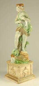 ~ Antique 18th c. Ralph Wood Pearlware Staffordshire Figurine of Sea God Neptune