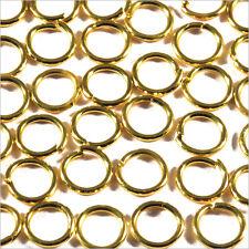 Set de 50 anillas abiertas 6mm de metal dorado para joyería