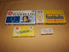 VINTAGE OLD CAMERA PHOTOGRAPHY GE FLASHBULBS LOT #5 CLEAR 5B BLUE M2 M2B BULBS