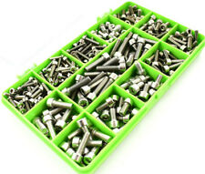 290 ASSORTED A2 STAINLESS STEEL M3M4M5 HEAD SOCKET CAPS BOLT SCREW ALLEN KEY KIT