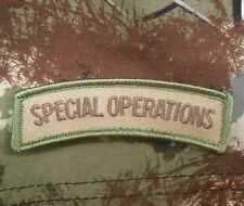SPECIAL OPERATIONS TAB US ARMY OPS ISAF MULTICAM VELCRO® BRAND FASTENER PATCH