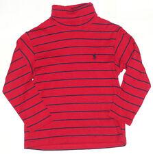 Ralph Lauren Polar Neck Red Striped Top Size 4 Boys Auth
