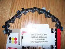 """1 72JGX116G Oregon 36"""" Skip 3/8 .050 116 DL chainsaw chain fits 36D0PS3816 Bar"""