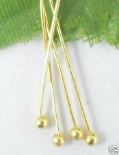 600Pcs Gold Plated copper solid ball head pin 18mm (Lead-free)