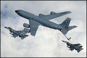 USAF KC-135A Stratotanker F-16 Falcons RAF Mildenhall 2009 8x12 Aircraft Photos