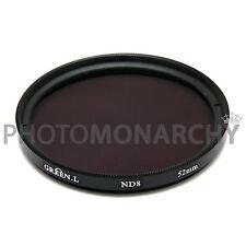 Filtro ND8 Green.L 52mm 3 stop neutral density Canon Nikon Sony Tamron Sigma 52