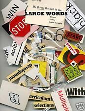 Cut text ephemera 1oz large words 200 to 250 pieces sfa