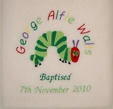 Very Hungry Caterpillar STUNNING BLANKET Christening, Birthday -  Personalised
