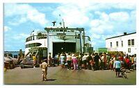 1960s Island Ferry, Woods Hole, Cape Cod, MA Postcard
