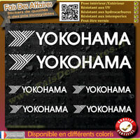 6 Stickers Autocollant Yokohama sponsor échappement lot planche sticker decal