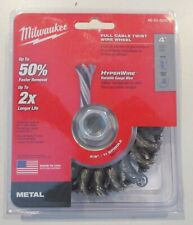 New 4x Milwaukee 4 Carbon Steel Full Cable Twist Wire Wheel Model 48 52 5030