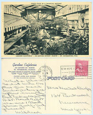 Garden Cafeteria 2nd Street St Petersburg Florida 1953 Advertising Postcard