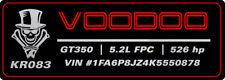 "2016-2020 Mustang GT350 Aluminum Custom ""VOODOO"" Radiator Plate [16FS_RP_5C]"