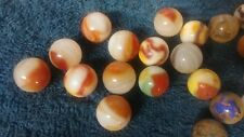 Lot Of Vintage Marbles, Clay and glass , Antique, Old