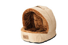 Nager Katzen Bett Kissen Haus Kuschel Schlaf Höhle Iglu braun weich waschbar