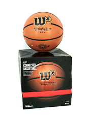 Wilson X Connected Smart Basketball w/Sensor That Tracks Shots size 28.5 No app!