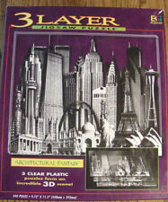 3 LAYER JIGSAW PUZZLE ARCHITECTURAL FANTASY