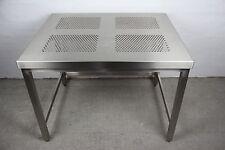 EDELSTAHL LABORTISCH REINRAUM TISCH V2A STAINLESS STEEL LAB TABLE 100x80x77 #5
