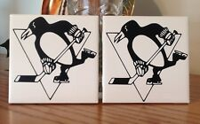 Pittsburgh Penguins ceramic tile coaster (set of 2)