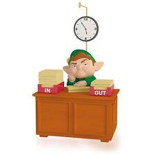 Takin' Care Of Business 2015 Hallmark Christmas Ornament  Elf  Santa  Music Toys