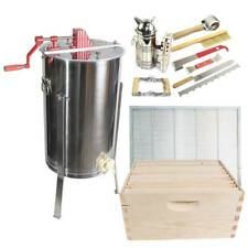 2 Frame Honey Extractor 2 complete Super hives & Frames Tool Kit Glesuperx2Cts1