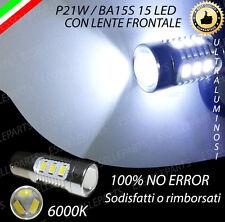LAMPADA RETROMARCIA 15 LED CON LENTE P21W BA15S CANBUS 100% NO ERROR 6000K