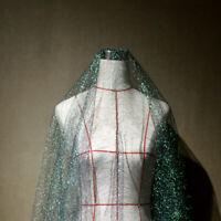 Mesh Fabric Organza Sheer Gradient Dress Making DIY Mermaid Glitter Backdrop New