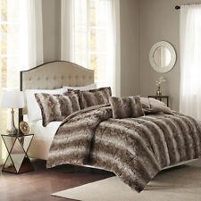 christian siriano luxury reversible faux fur queen comforter