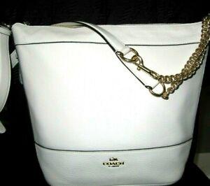 Coach Chalk Pebbled Leather Paxton Duffle Shoulder Handbag F72692 New NWT $398