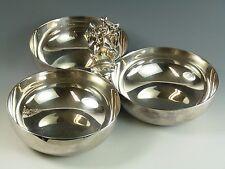 CHRISTOFLE Silver Plate - Modernist 3 Piece Divider Tray / Server - Elias