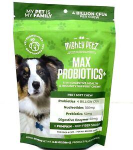 Mighty Petz MAX Probiotics 4 Billion CFUs Prebiotics Immune Allergy Support Itch