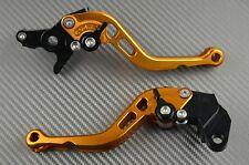 Paire de levier leviers levers court short CNC Orange Kawasaki ZZR 400