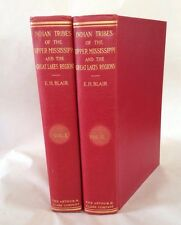 Indian Tribes Upper Mississippi Valley Great Lakes 2 Volumes Emma Helen Blair