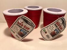 RED CUP ~ DRINK KOOLER ~ SET OF THREE