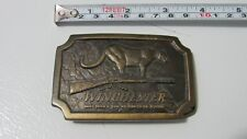 WINCHESTER SOLID MOUNTAIN LION COUGAR RIFLE BELT BUCKLE AN AMERICAN LEGEND 1976