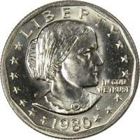 1980 P Susan B Anthony Dollar BU Uncirculated Mint State SBA $1 US Coin