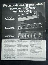 Audioline - Sound Boosters - 1980's Magazine Advert #B5024