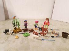 Playmobil Country Zoo Biber Nest Hunde Welpen Ziegen Familie Tiere