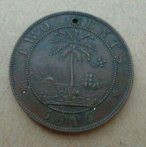 Liberia coin 1906 - 2 Cents Coin KM# 6