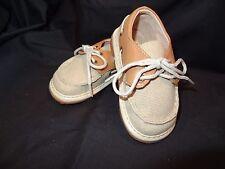 Boys Toddler Squeak Me Shoes Canvas Boat Shoes Size 6